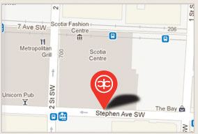 We are located at 226, 230 - 8 Ave SW, Calgary. Click above for directions using Google maps and more information