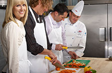 Learn about team building cooking classes at SAIT's downtown Culinary Campus