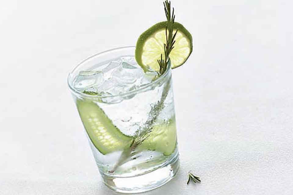 Rosemary Cucumber Gin and Tonic ':' Enjoy this refreshing Gin and Tonic cocktail, perfect for spring entertaining.